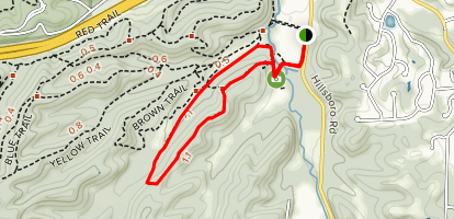 Dogwood Ridge Loop via Losing Stream Trail Map