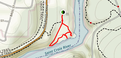 Saint Croix River Lookout Map