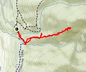 South Fork Kays Creek-North Side Up the Mountain Map