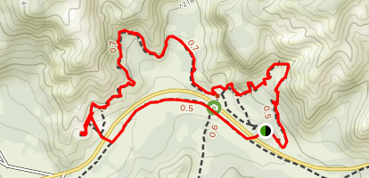 Pink Ledges, Bird's Eye and Photo Trail Loop Map