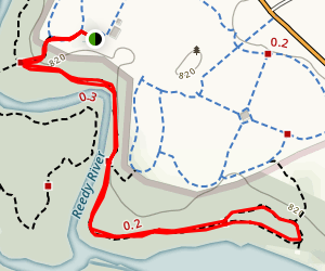 Raccoon Run to Chickadee Link Loop Map