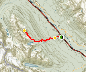 East Ridge of Panorama Ridge Map