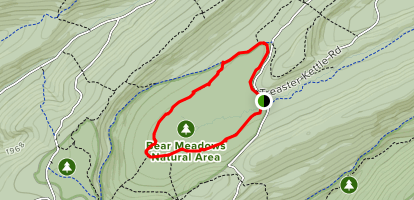 Bear Meadows Loop to Jean Aron Path Map