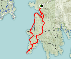 Peninsula Campground to First Cove Loop Map