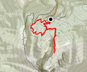 Bristlecone and Alpine Lakes Loop Map