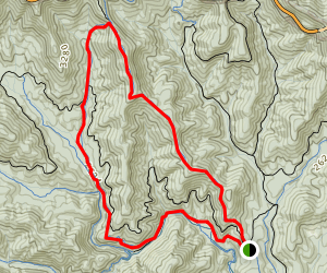 354 Trace Ridge and 600 Spencer Gap Loop Map