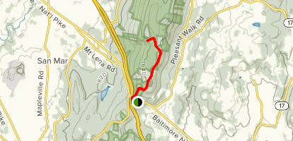 Annapolis Rock via Appalachian Trail Map