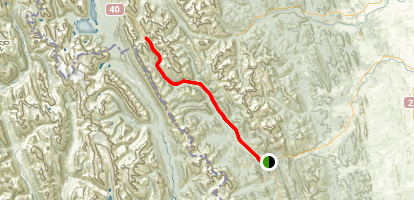 Ride to Highwood Pass Map