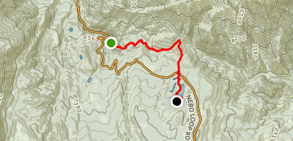 Bennie Creek To Payson Lakes Campground Map