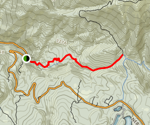 Bennie Creek Cutoff Trail Map