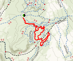 The Edge, Midway, Wizard and Magician Trail Map