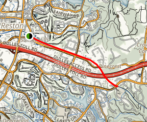Washington and Old Dominion Bridle Trail: Reston to Sunrise Valley Dr Map