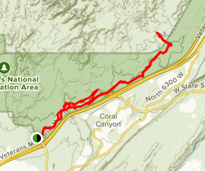 Church Rocks South to Tunnel Trail Map