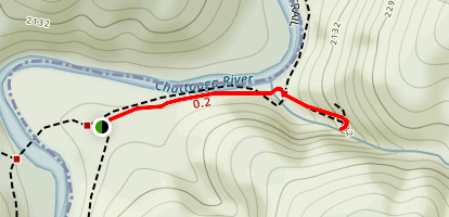 Spoonauer Falls via Chattooga River Trail Map