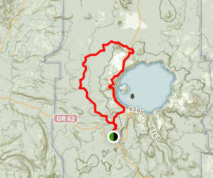 Pacific Crest Trail and Alternate Loop Map