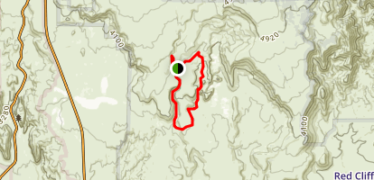 Black Gulch and Yellow Knolls Loop Map