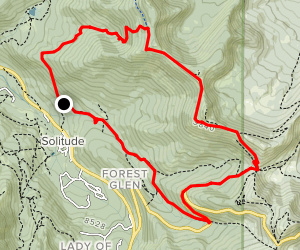 Old Stage to Wasatch Crest Loop  Map