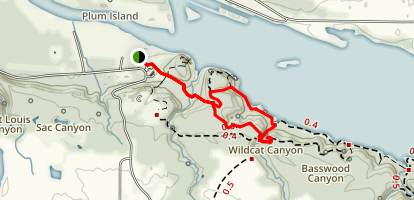 Pontiac Canyon, Wildcat Canyon and Beehive Overlook Map