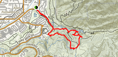 Corner Canyon Road, Canyon Hollow, Brock's Point and Clarks Trail Map