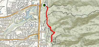 Bonneville Shoreline Trail: Layton Ridge to Fernwood Picnic Area  Map