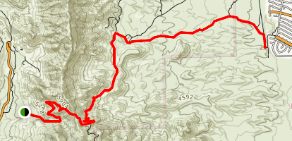 Trans-Franklin Mountain Trail Map