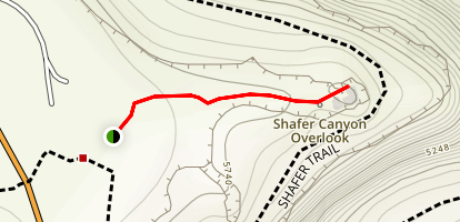 Shafer Canyon Overlook Map