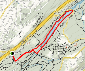 Lake Surprise Loop via Purple and White Trails Map