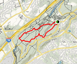 White, Purple and Yellow Trail Loop Map