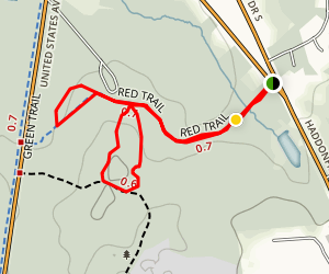 Blueberry Hill via Red Trail Map