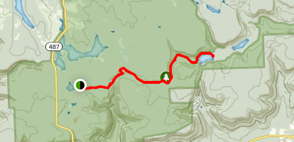 Mountain Springs Trail via Highland Trail Map