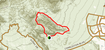 Calico Hills and Brownstone Canyon Loop Map