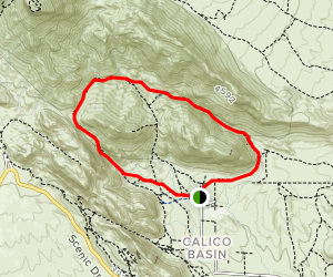 Kraft Mountain and Calico Hills Loop Trail Map