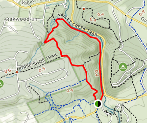 Mount Misery Trail to Valley Creek Trail Loop Map