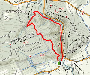 Mount Misey Trail to Valley Creek Trail Loop Map