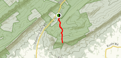 Flat Rock via Tuscarora Trail Map