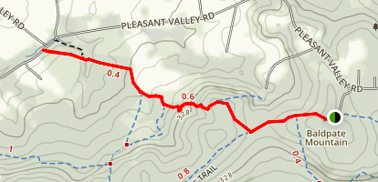 Baldplate Ridge and Pleasant Valley Trail Map