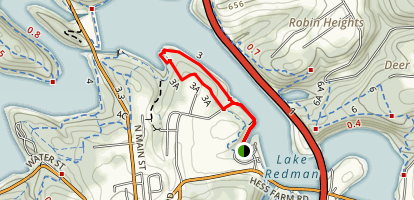 Lake Redman Trail 3 to 3A Loop Map