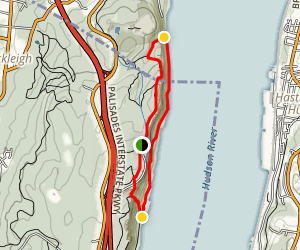 White Shore and Long Path Loop Trail Map