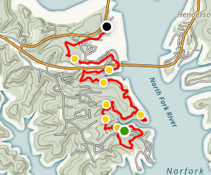 David's Trail: Robinson Point to Panther Bay Map