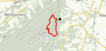 White Square and Red Loop Map