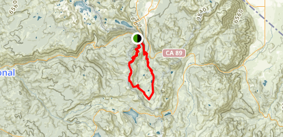 Echo Summit to Meiss Meadow Loop Map
