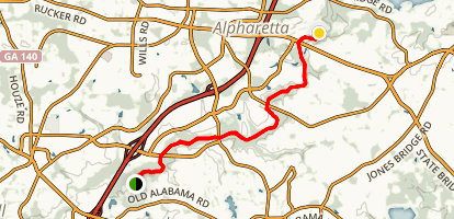 Alpharetta Greenway Trail Map