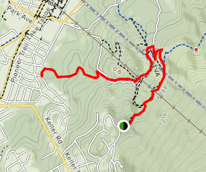 Saddle to Ski Run Trail Map