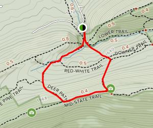Lower Trail to Deer Path Loop Map