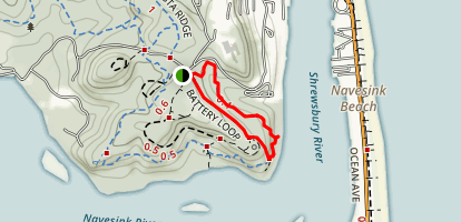 Bunker Ruins via Rocky Point Trail and Battery Loop Map