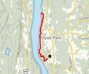 Roosevelt Home to Bard Rock via Hyde Trail Map
