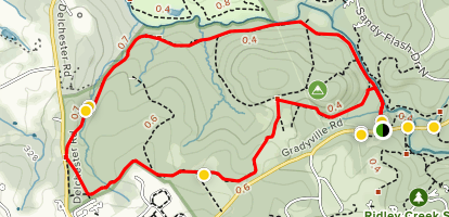 Ridley Creek State Park Horse Loop Map
