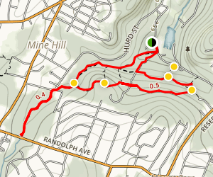 Indian Falls, Jackson Brook and Hedden Park Circular Loop Map