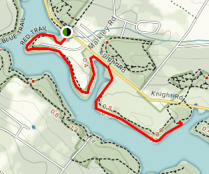 Red Trail to Honeysuckle Trail Map