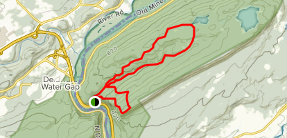 Mount Tammany and Sunfish Pond Loop Map